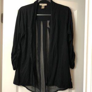 See through back knit blazer